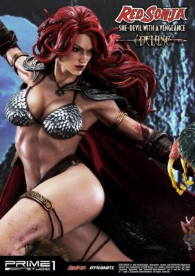 Red Sonja statuette Red Sonja She-Devil with a Vengeance Deluxe Version 79 cm | Prime 1
