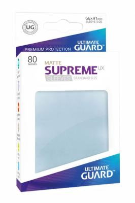 Ultimate Guard 80 pochettes Supreme UX Sleeves taille standard Transparent Mat