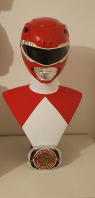 Red Rangers EXCLUSIF Life size Buste Power Rangers | Pop Culture Shock