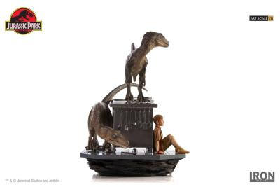 Jurassic Park diorama 1/10 Art Scale Velociraptors in the Kitchen 33 cm