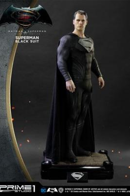 Superman Black Suit Ver. 106 cm Batman vs Superman Dawn of Justice DC Comics | Prime 1 Studios